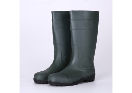 8215ecfdba9f Green pvc safety work boots for men - Rain boots manufacturer china ...