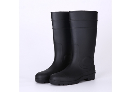 106 black safety rain boots with steel toe