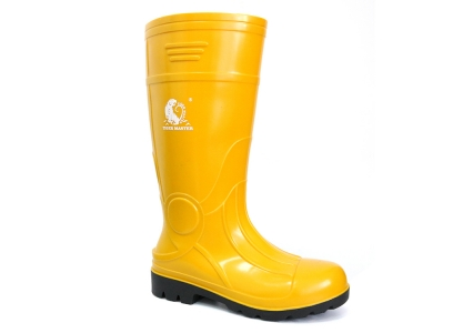 107-YB Waterproof steel toe cap pvc safety rain gumboot