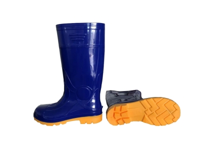 107B waterproof shiny pvc safety boot with steel toe