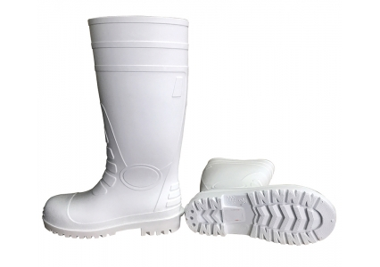 108-1 food industry white pvc boots with steel toe