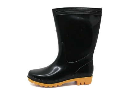 301L black oil acid alkali resistant very cheap non safety pvc rain boots for work