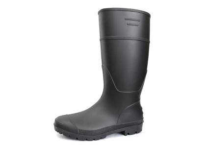 A8BB Black non safety oil chemical resistant plastic pvc work rain boot