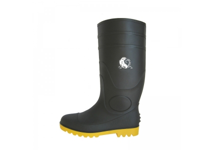 BYS china CE approved steel toe cap pvc safety rain boots