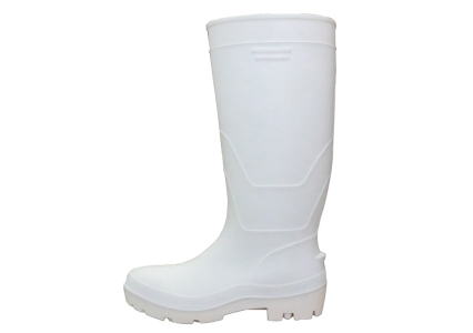 F35WW white food industry water proof steel toe pvc safety rain boots unisex