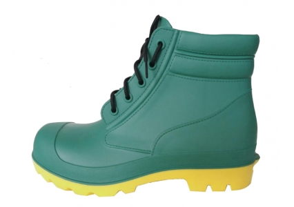 GYA green ankle pvc work rain boots with steel toe