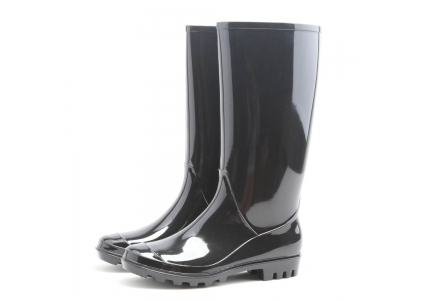 PL-011 black non safety women rain boots