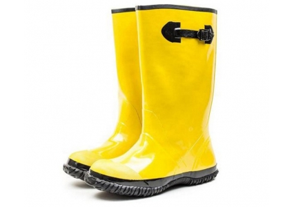 R019 water proof oil resistant anti slip yellow slush rubber boots overshoes