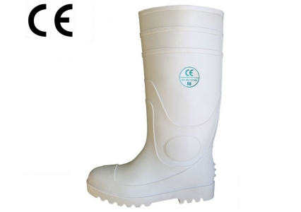 WWS white food industry pvc safety rain botas