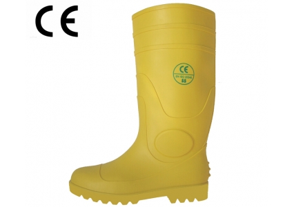 YYS CE standard yellow waterproof wellington boots