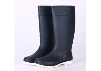 China 101-2 Navy blue light weight non safety rain boots factory