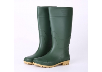 China 101-6 green garden rain boots men factory