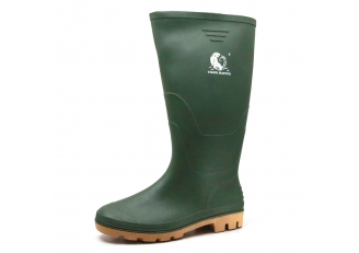 China 102-1 CE green water proof anti slip non safety garden pvc work rain boots factory