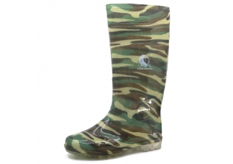 103-5 Waterproof camouflage non safety PVC glitter rain boots for work