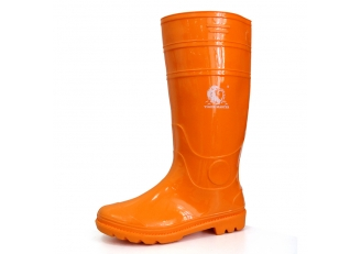 China 103-OO waterproof non safety shiny pvc rain boot factory