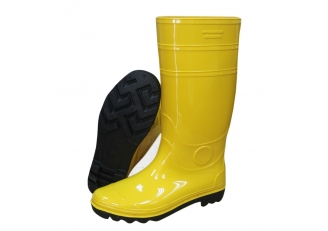 China 103Y yellow non safety oil resistant pvc rain boots factory
