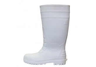 China 108-1 white water proof food industry oil resistant pvc safety rain boots steel toe factory