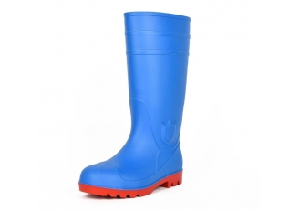 111 new design blue oil resistant steel toe safety rain boots pvc