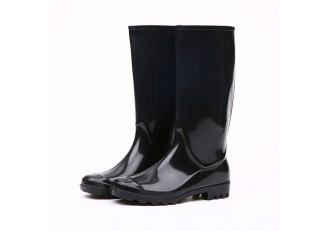 China 202-1 black pvc women rain boots factory