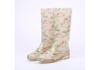 China 202-3 transparent lady pvc rain boots factory