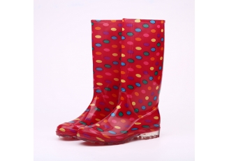 China 202-4 red fashion women rainboots factory