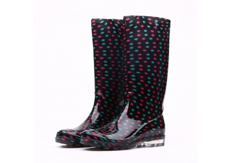 China 202-5 waterproof glitter women PVC rain boots factory