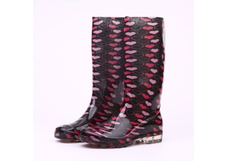 202-7 waterproof anti slip rain boots for lady
