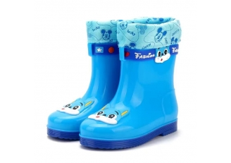 585 waterproof kids winter rain boots with fur lining
