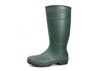 A8GB green matte waterproof non safety pvc rain boot for garden