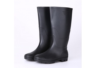 China ABBN cheap black rain boots pvc factory