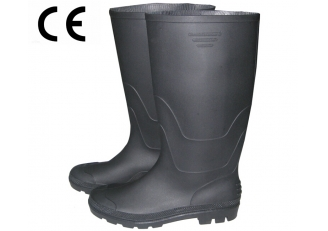 China ABBN non safety black pvc rain boots factory