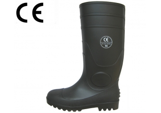 China BBS CE standard PVC safety rain boots factory