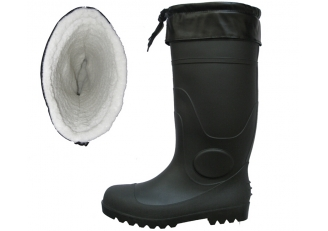 China BBS-CF cotton warm lining winter pvc rain boots factory