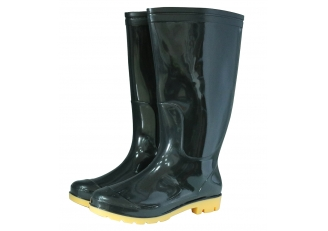 China BNY 2 dollar cheap black shiny pvc rain boots for men factory
