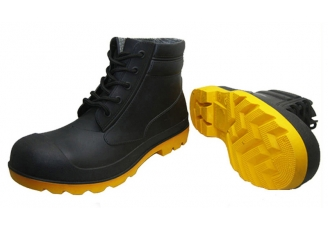 China BYA CE standard lace up ankle pvc safety boots factory