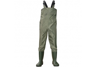 CW001 Men polyester PVC fishing waders waterproof chest waders with pvc work boots