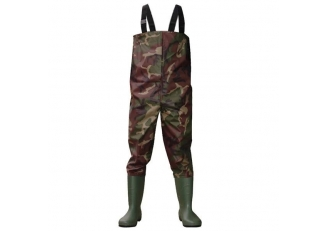 CW003 Camouflage nylon PVC hommes travaillent wader de pêche wader water proof poitrine wader