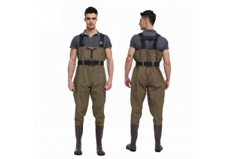 CW004 Outdoor water proof fishing wader men nylon PVC chest wader for work
