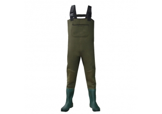China CW006 men neoprene fishing wader water proof chest wader with rubber boots factory