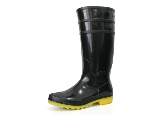 E6BY Waterproof lightweight non safety cheap black glitter pvc rain boot