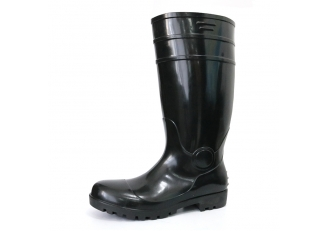 China F30BB Black steel toe cap cheap pvc glitter safety rain boot factory
