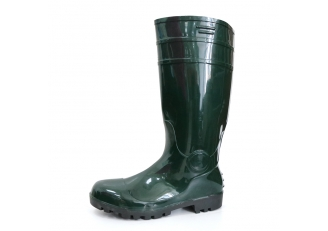 China F30GB green waterproof lightweight shiny pvc safety rain boot factory