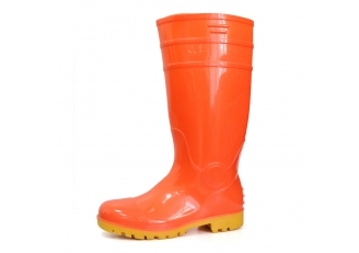 China F30RY non slip oil resistant steel toe cap pvc glitter safety rain boot factory