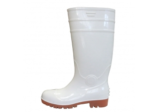 China F30WN white anti slip water proof pvc glitter safety rain boots steel toe factory