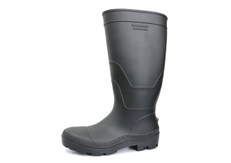 China F35BB black matee steel toe cap lightweight pvc safety boot factory