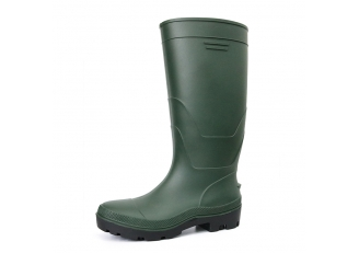 F35GB green matte oil resistant waterproof steel toe cap pvc safety rain boot