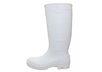 China F35WW white food industry water proof steel toe pvc safety rain boots unisex factory