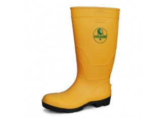China F35YB TIGER MASTER steel toe puncture proof PVC safety wellington rain boots factory