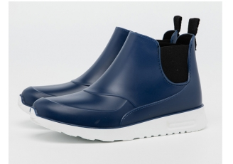 China HNX-002 blue fashionable women ankle rain boots factory