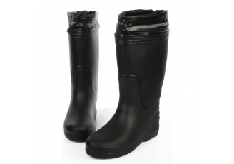 JW-310 Black anti slip non safety mens EVA rain boots for work